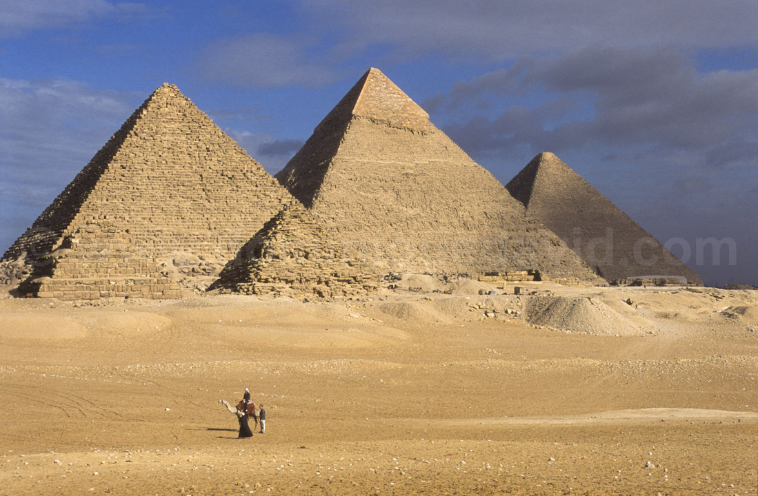 Gizeh (Egypte) - Les Pyramides - Photo de Dominique David